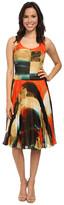 Donna Morgan Sleeveless Dress w/ Pleated Mid-Length Skirt