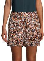 Robert Graham Coraline Printed Silk Shorts