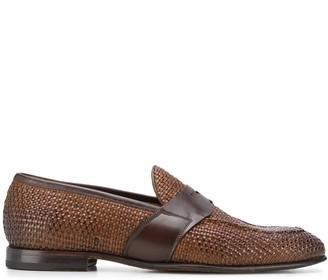 Silvano Sassetti Woven Style Low Heel Loafers
