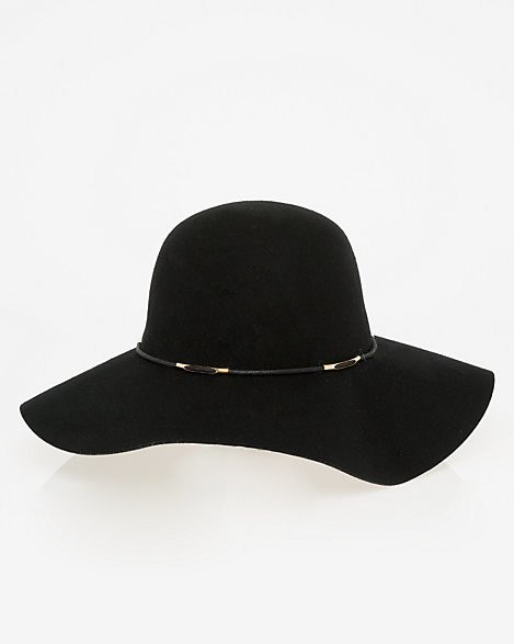 Le Château Wool Wide Brim Floppy Hat