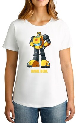 Bumble Bee TWIDLA Personalised T-shirts Women's Transformers Bumblebee Standing Strong Personalised Cotton T-Shirt