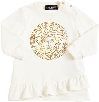Versace Medusa Print Cotton Sweat Dress