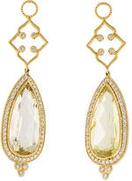 Jude Frances Provence Citrine & Diamond Earring Charms