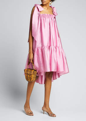 Stine Goya Serena Tie-Shoulder Flounce Dress