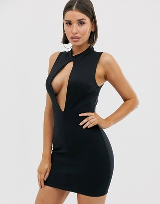 Asos Design DESIGN slash front mini dress