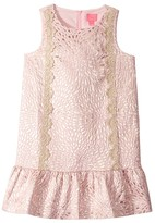 Lilly Pulitzer Thalia Dress (Toddler/Little Kids/Big Kids) (Prosecco Pink Lagoon Jacquard) Girl's Clothing
