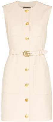 Gucci Belted Waist Mini Dress