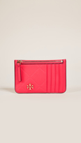 Tory Burch Georgia Top Zip Card Case