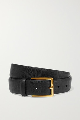 Andersons Textured-leather Belt - Black