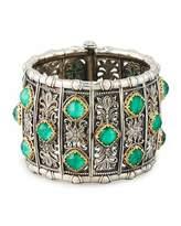 Konstantino Large Malachite Cuff Bracelet