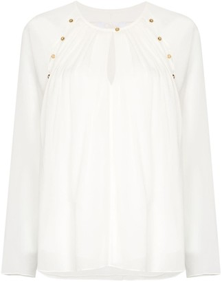 Chloé Cut-Out Collar Blouse