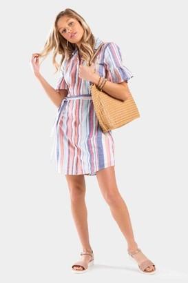 francesca's Jillianne Stripe Shift Dress - Multi
