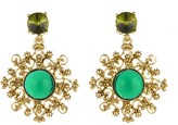 Oscar de la Renta Filigree Resin Earrings