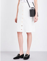 White Denim A Line Skirt - ShopStyle