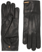 Burberry Cashmere-lined Leather Gloves - Black