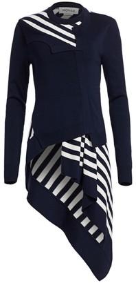 Monse Striped Twisted Cardigan