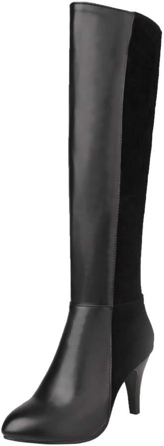 3709f94f912c8 BIGTREE Riding Boots Women Casual Zipper Block Fall Winter High Heel PU  Leather Knee High Boots