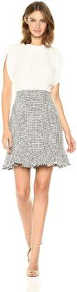 Rebecca Taylor Women's Sleeveless Silk & Tweed Dress