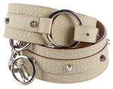 Versace Embossed Embellished Belt