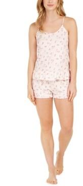 Flora by Flora Nikrooz Printed Knit Ruffle Cami & Shorts Pajama Set