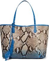 Nancy Gonzalez Crocodile-trimmed Python Tote - Blue