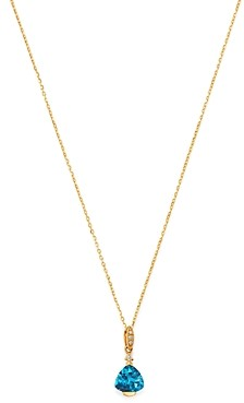 Bloomingdale's London Blue Topaz & Diamond-Accent Necklace in 14K Yellow Gold, 18 - 100% Exclusive