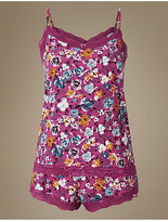M&S Collection Artiste Print Camisole & French Knickers