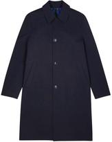 Paul Smith Navy Bonded Wool Coat