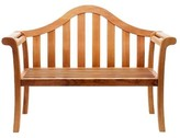 The Well Appointed House Camelback Outdoor Wooden Bench in a Natural Oiled Finish