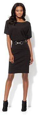 New York & Co. Dolman-Sleeve Ribbed Dress