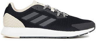 adidas Sooraj Faux Leather-trimmed Mesh Sneakers