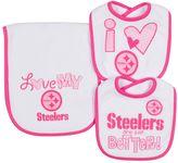 Gerber Baby Pittsburgh Steelers 3-Piece Bib & Burpcloth Set
