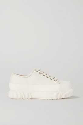 both Canvas Platform Sneakers - Off-white