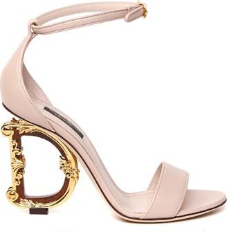 Dolce & Gabbana Barocco Nappa Leather Sandals