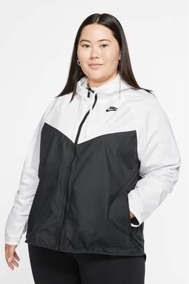 Nike Womens Curve White/Black Wind Runner Jacket - White