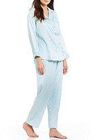 Miss Elaine Paisley Brushed-Back Satin Pajamas