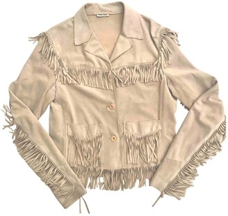 Miu Miu Beige Suede Jacket for Women Vintage