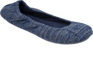 Dearfoams Women's Variegated Knit Ballet Slipper