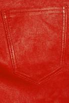 Current/Elliott The Stiletto mid-rise leather leggings-style pants