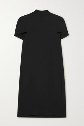 Victoria Victoria Beckham Crepe Cape-effect Tie-detailed Mini Dress - Black