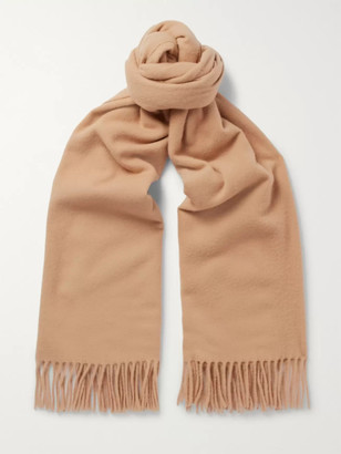 Acne Studios Canada Fringed Wool Scarf - Men - Brown