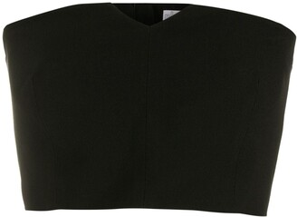 Nk V-Neck Cropped Top