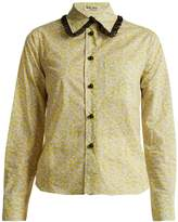 Miu Miu Floral-print cotton-poplin shirt