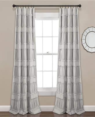 "Lush Decor Nova Ruffle Window Curtain Panels Set, 84"" x 42"""