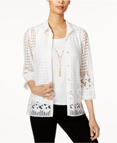 Alfred Dunner Lace Layered-Look Top