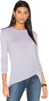 Stateside Long Sleeve Twist Tee in Gray. - size XS (also in )