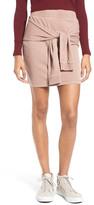 BP Tie Front Fleece Skirt