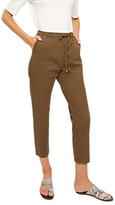 Jaeger Front Pleat Drawstring Trousers, Khaki