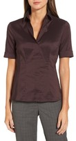 BOSS Women's Bashina Stretch Poplin Shirt