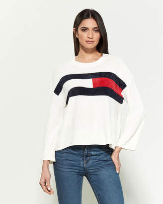 Tommy Hilfiger Flag Chenille Long Sleeve Sweater